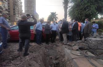 محافظ الجيزة يتفقد أعمال التطوير بشارع النيل |صور