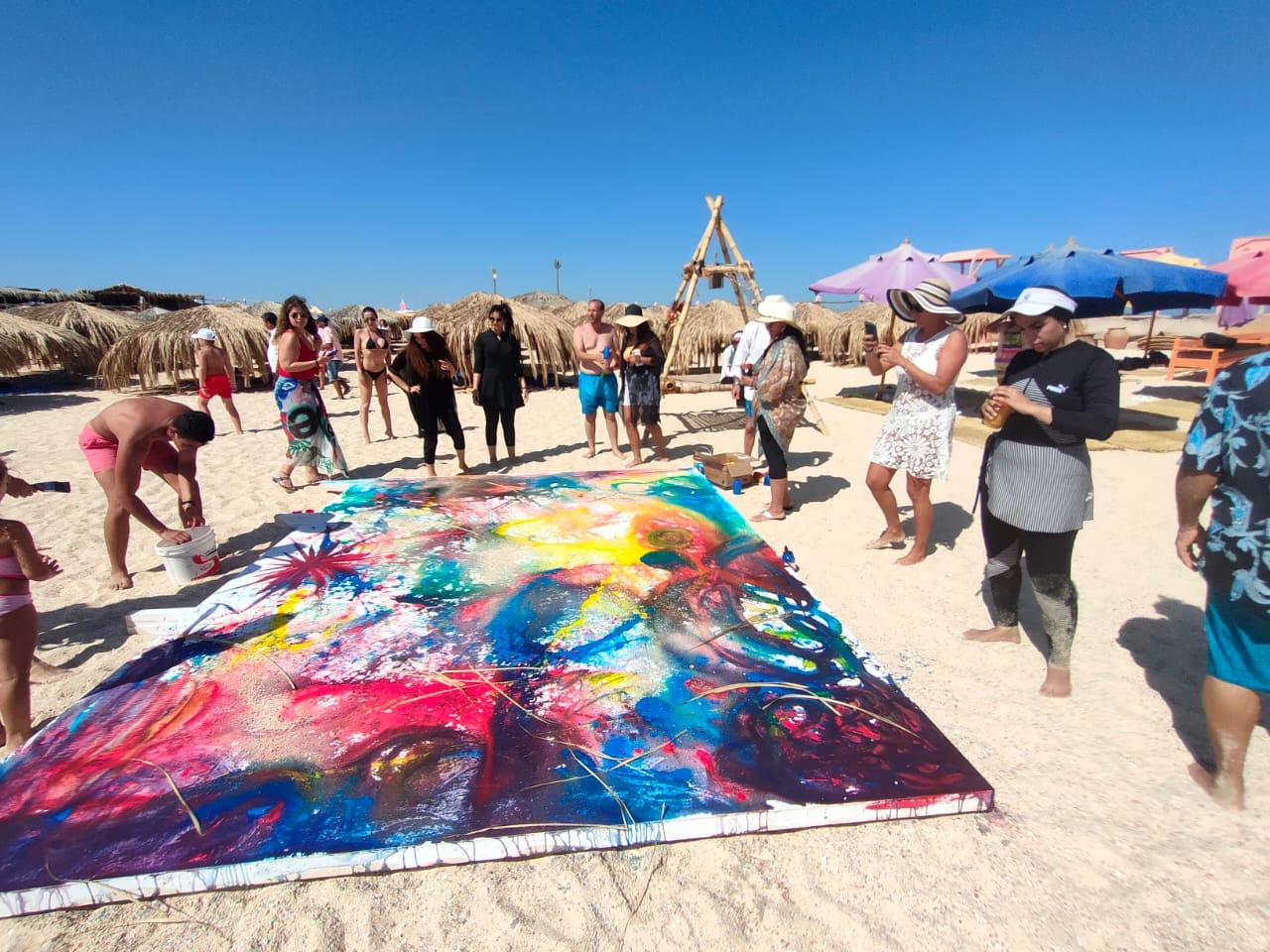افتتاح جدارية فنية على جزيرة براديس