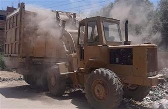 رفع 375 طن قمامة ومخلفات من مدينة «سنورس» وقراها| صور