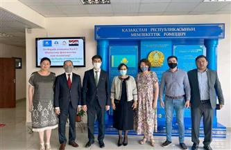 سفيرة مصر لدى كازاخستان تلتقي رئيس جامعة الفارابي الوطنية الكازاخية|صور