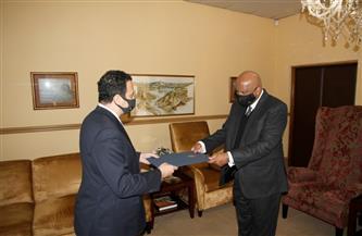 سفير مصر بجنوب إفريقيا يُقدم أوراق اعتماده كسفير غير مُقيم في ليسوتو   صور