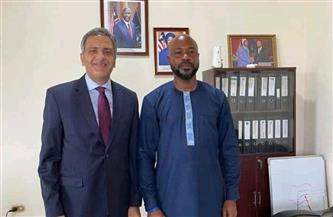 سفير مصر في مونروفيا يلتقي رئيس الهيئة القومية للاستثمار الليبيري | صور