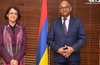 السفيرة المصرية في بورت لويس تلتقي وزير خارجية موريشيوس