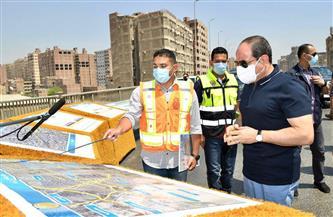 تفاصيل تفقد الرئيس السيسي أعمال تطوير وصيانة الطريق الدائرى حول القاهرة الكبرى | صور