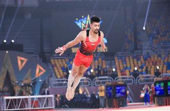 إصابة عمر العربي نجم منتخب الجمباز خلال مشاركته بكأس العالم القاهرة 2021
