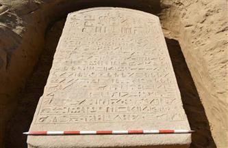 اللوحة الأثرية التي تم العثور عليها أمس تصل متحف الآثار بالإسماعيلية