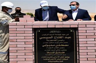 """رئيس الوزراء يضع حجر أساس مشروع إنشاء شركة البحر الأحمر الوطنية للبتروكيماويات بـ""""قناة السويس"""""""