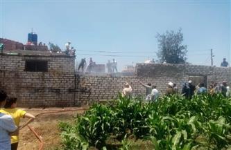 حريق يلتهم أجزاء من منزل في المحلة الكبرى بسبب ماس كهربائي | صور