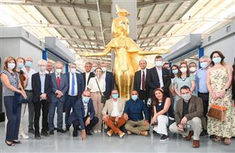 بحضور 20 سفيرا أجنبيا.. السياحة والآثار تنظم زيارة لمصنع المستنسخات الأثرية بالعبور  صور