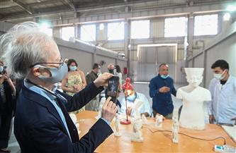 تفاصيل زيارة 20 سفيراً لمصنع المستنسخات الأثرية بمدينة العبور  صوروفيديو
