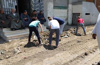 """وزارة البيئة تشارك في حملة تطوير قرية """"صفط تراب"""" بالغربية"""