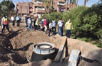 محافظ أسيوط يتفقد أعمال إنشاء محطة رفع وخط طرد صرف صحي |صور