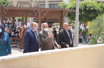 رئيس جامعة الأزهر يتفقد الامتحانات ويتابع أعمال إنشاء المبنى المركزي للاختبارات الإلكترونية بفرع البنات |صور