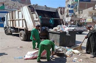 رفع 15 طن قمامة فى حملة نظافة بمدينة الباجور بالمنوفية