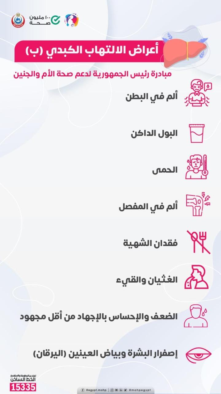 أعراض مرض الإلتهاب الكبدى