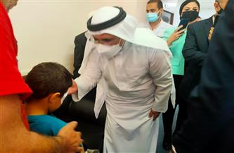 رئيس البرلمان العربي يزور المصابين الفلسطينيين بمستشفى معهد ناصر