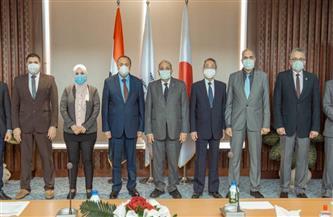 وفد من معهد علوم البحار يزور الجامعة المصرية اليابانية لبحث التعاون | صور