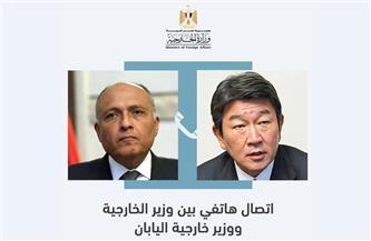 وزير الخارجية يبحث مع نظيره الياباني العلاقات الثنائية وعددا من الملفات الإقليمية والدولية