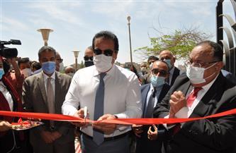 وزير التعليم العالي ورئيس جامعة حلوان يفتتحان مركز الاختبارات الإلكترونية | صور