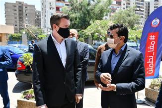 وزير الرياضة ورئيس الوكالة الدولية لمكافحة المنشطات يتفقدان مستشفى الطب الرياضي بمدينة نصر