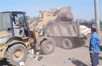 رفع 211 طن قمامة فى حملات نظافة بقرى شبين الكوم بالمنوفية   صور