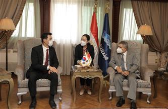 رئيس هيئة قناة السويس يستقبل السفير الكوري الجنوبي لبحث سبل التعاون | صور