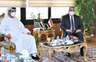 وزير الطيران يلتقى سفير دولة الإمارات والمدير العام لهيئة الطيران الإماراتي