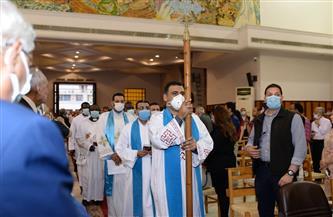 بدء صلوات حفل تنصيب رئيس أساقفة جديد للكنيسة |صور