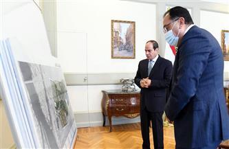تفاصيل إطلاع الرئيس السيسي على المخطط العام لمشروع حديقة تلال الفسطاط |صور