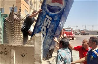 حي العجوزة يشن حملة مكبرة لرفع الإشغالات   صور