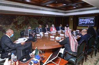 وزير النقل يشارك في الاجتماع الأول للجنة البنية التحتية للنقل واللوجيستيات| صور