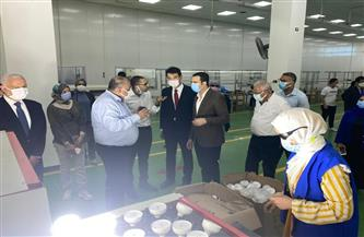 نائب محافظ بورسعيد وسفير جمهورية كوريا يتفقدان عددًا من المصانع| صور