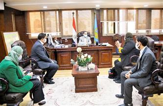 محافظ الغربية ووفد وزارة التنمية المحلية يفتتحون مقر وحدة السكان   صور