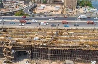 استمرار أعمال إزالة تعارضات توسعة الطريق الدائري بنطاق أحياء مصر القديمة والبساتين ودار السلام