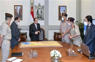 الرئيس السيسي يوجه بالالتزام بالجداول الزمنية المحددة لتنفيذ ما تم عرضه من مشروعات الهيئة الهندسية