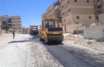 مدينة مرسى مطروح: استكمال أعمال خطة رصف شوارع قطاع شرق | صور