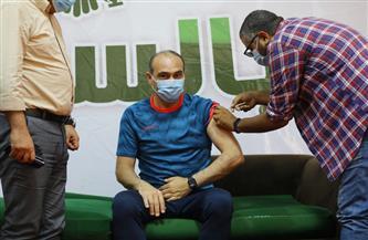 تطعيم لاعبى المصرى وجهازهم الفنى بالجرعة الأولى للقاح كورونا