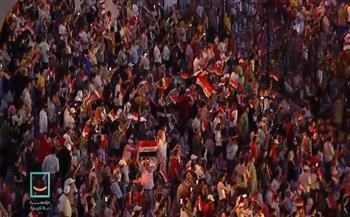 المشاركون-فى-المؤتمر-الأول-للمشروع--القومى-quot;حياة-كريمةquot;-يلوحون-بعلم-مصر-بإستاد-القاهرة|صور