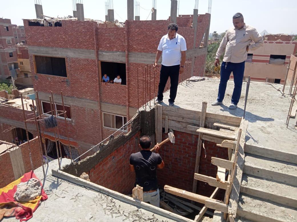 إيقاف أعمال بناء مخالف بحي غرب الإسكندرية