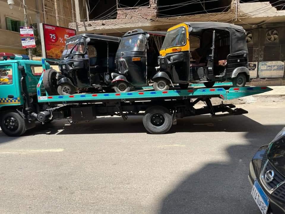 ضبط  مركبة توك توك مخالفة في شوارع مدينة طنطا