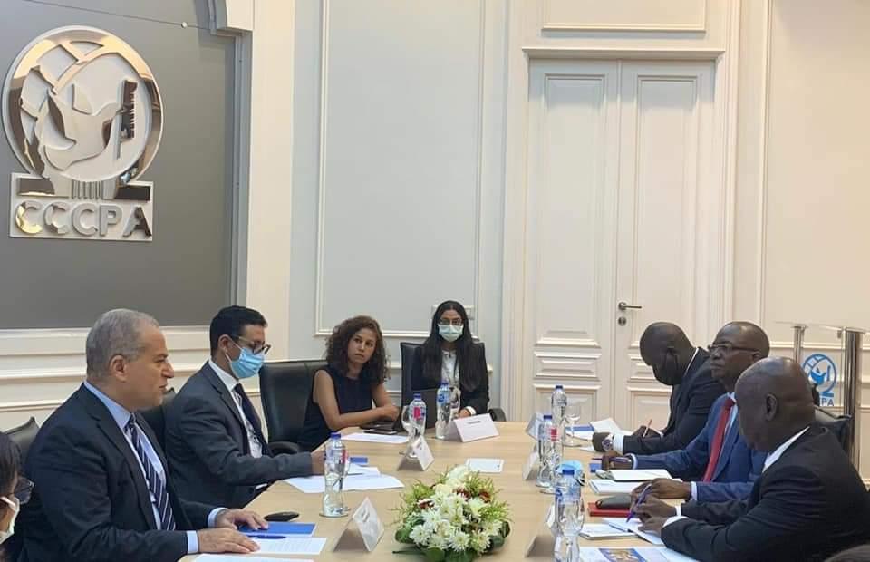 وزير بناء السلام بجنوب السودان يبحث تدشين شراكة مع مركز القاهرة الدولي لتسوية النزاعات وحفظ وبناء ال