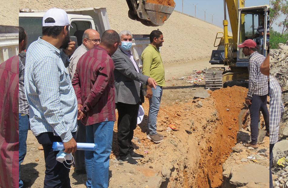 أعمال مد وتدعيم خط مياه قطر ١٠بوصة