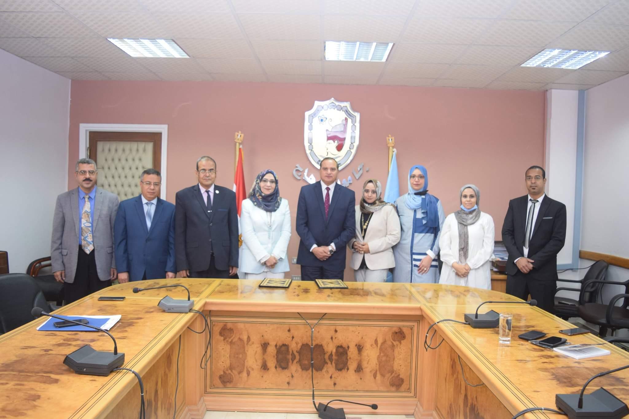 بروتوكول تعاون بين جامعة سوهاج ومؤسسة المنى للتنمية