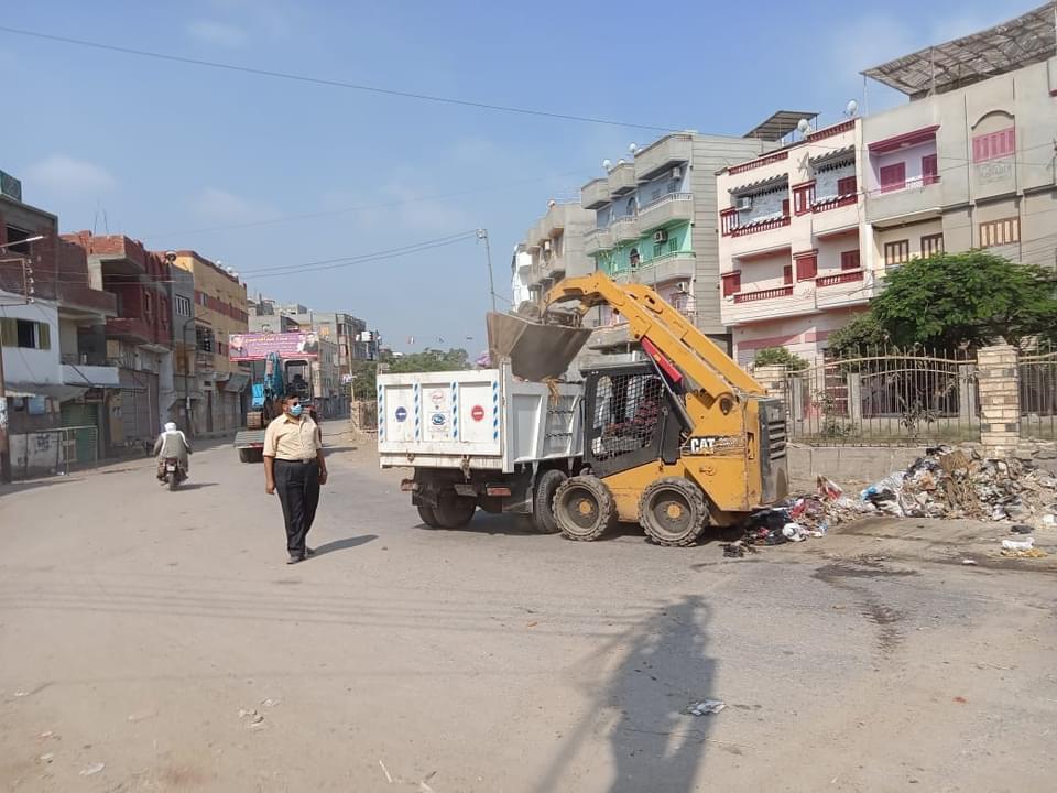 إزالة  طن قمامة وتراكمات مخلفات من قرى مركز طنطا
