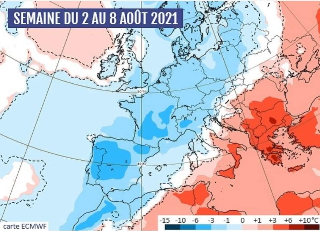 ارتفاع كبير في درجات الحرارة على منطقة المتوسط