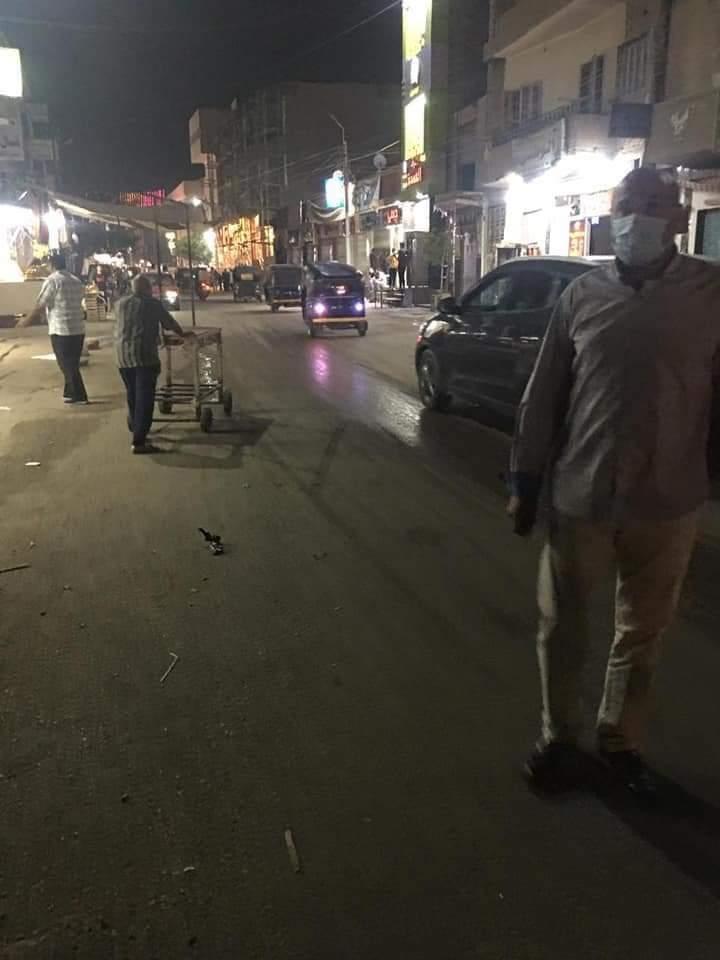 حملة بشوارع مدينة سنورس