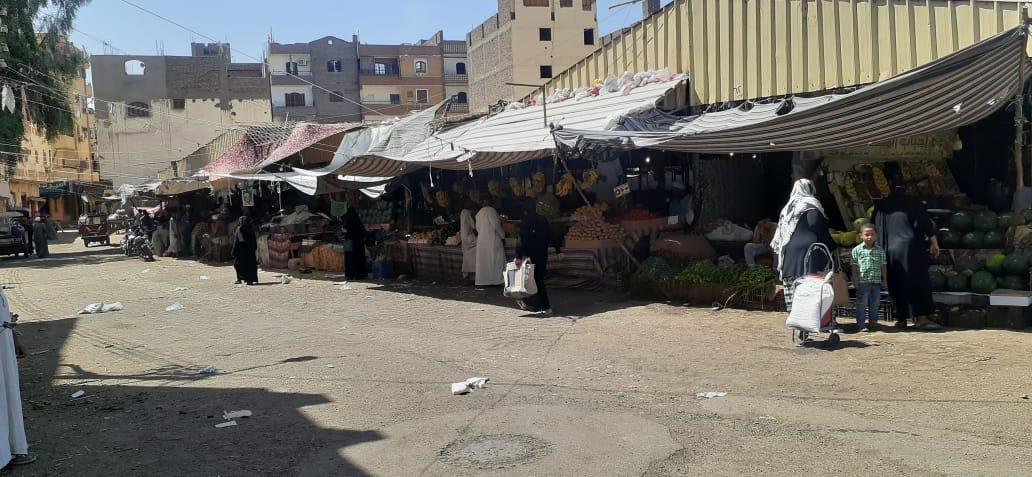 تحرير  محضر إزالات إدارية في حملة بشوارع مدينة الأقصر   صور