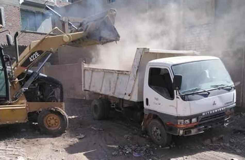 محافظة الجيزة ترفع  ألف طن مخلفات وقمامة خلال أسبوعين