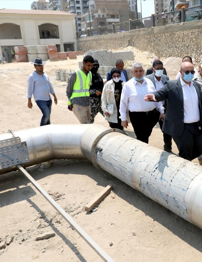 محافظ بني سويف يتفقد مشروع تطوير الكورنيش