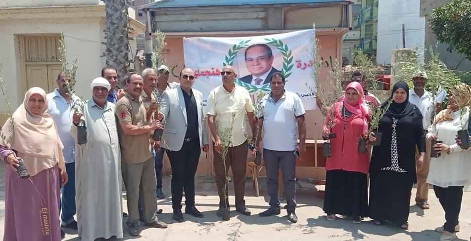 مبادرة  أزرع شجرة  بمركز بنى عبيد